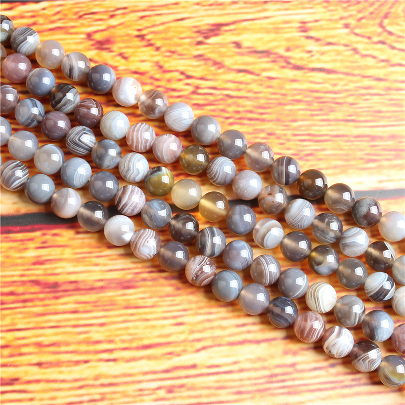 Persian Gulf Agate Natural Stone Bead Round Loose Spaced Beads 15 Inch Strand 4/6/8 / 10mm For Jewelry Making DIY Bracelet