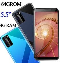 Global 7a pro smartphones 5.5 polegada 4g ram 64g rom 13mp hd face id desbloqueado quad core telefones celulares android celulares wifi 2sim