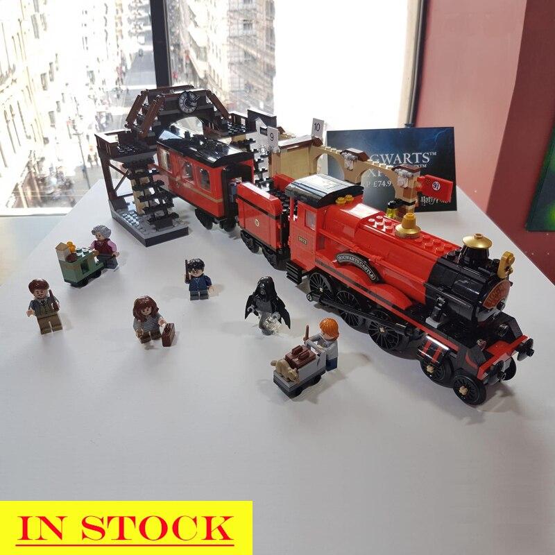In Stocks 11006 Potter Magic World Movies Series H Gwarts Express 801Pcs Model Building Blocks Bricks Compatible 75955 Toys