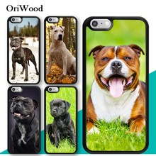 OriWood Staffordshire Bull Terrier Staffy Dog For iPhone XS MAX XR X Case TPU Back Shell For iPhone 6 6s 7 8 Plus 5 Phone Cover(China)