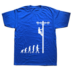 Image 4 - האבולוציה של הבלם מצחיק חשמלאי מתנת חולצה