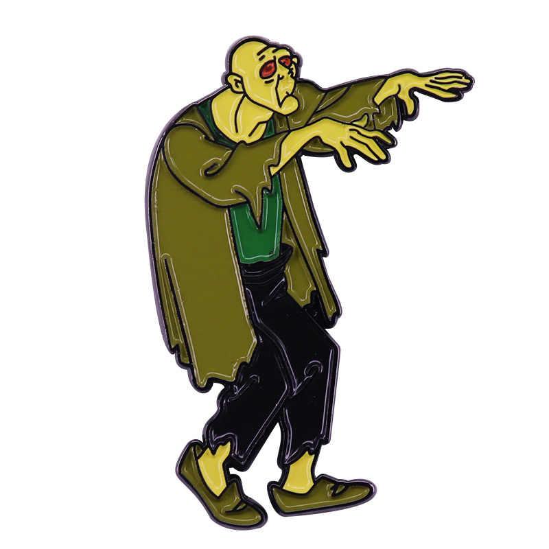 Zombi kötü rozeti Scooby Doo! Karikatür takı