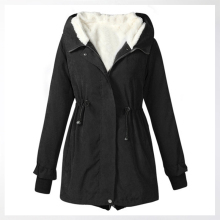 Big Fur Winter Coat Thickened Parka Women Stitching Slim Long Down Cotton Ladies