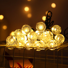 LED Solar Light Waterproof Colorful&Warm Light Light Fairy Holiday Christmas Party Garland Garden Wedding Solar Lamp Decor