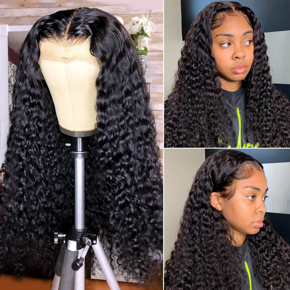 Sapphire Mongolian Curly Human Hair Lace Front wigs Afro Kinky Curly Wig Human Hair Closure Wig Human Hair Wigs pre plucked|Lace Front Wigs|   - AliExpress