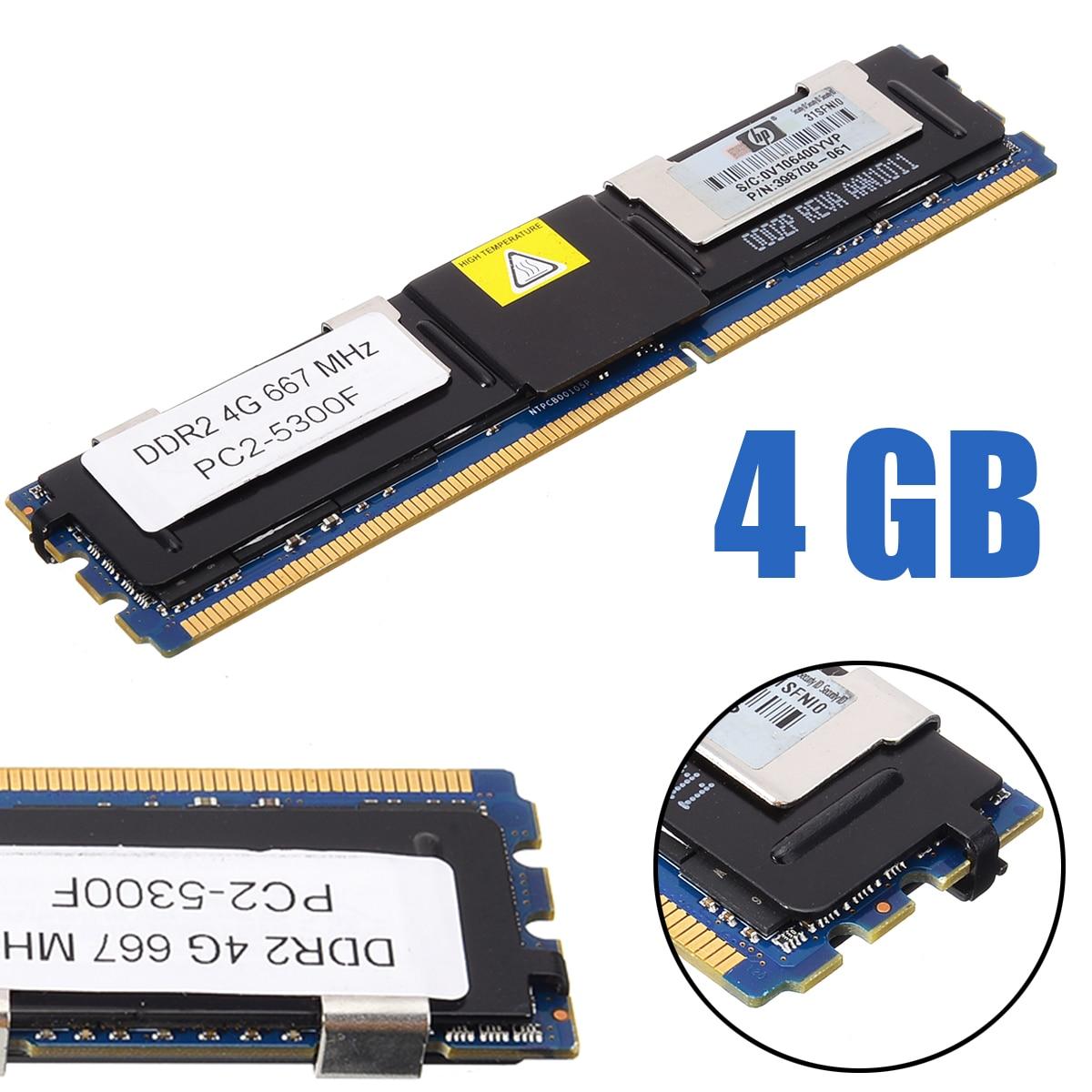 For PC Memory RAM Memoria Module Computer Desktop Ram DDR2 4GB 5300F 667Mhz 1.8V ECC 240 Pin CL5 Memory Ram Pohiks