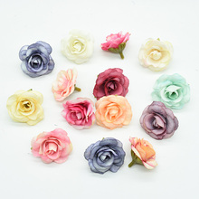 100 Pieces Artificial rose head home decoration accessories Fake flower Diy Wedding Holiday