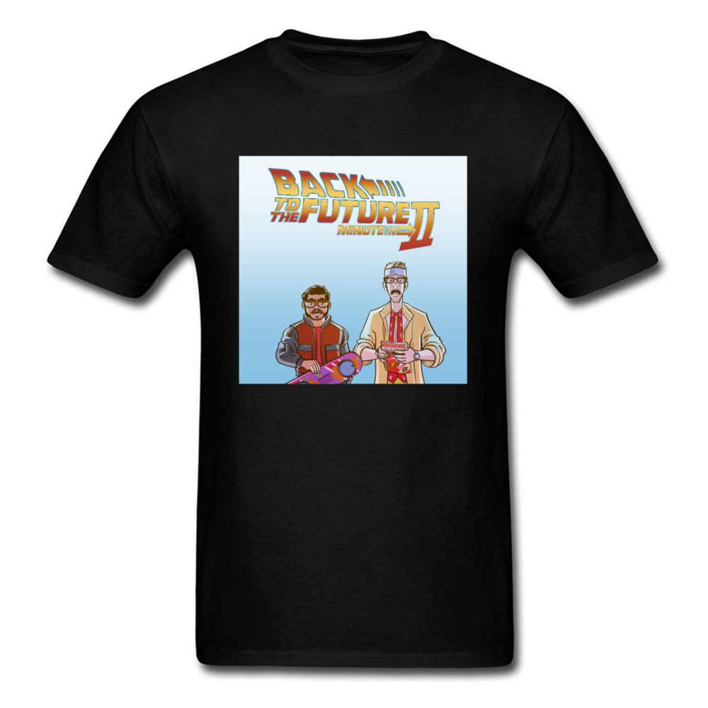 Futuro Comic Book T-Shirt Degli Uomini di Ritorno Al Futuro 2 T Camicette Marty Dmc Delorean Magliette E Camicette Magliette Cotone Maglietta Nera divertente Abbigliamento