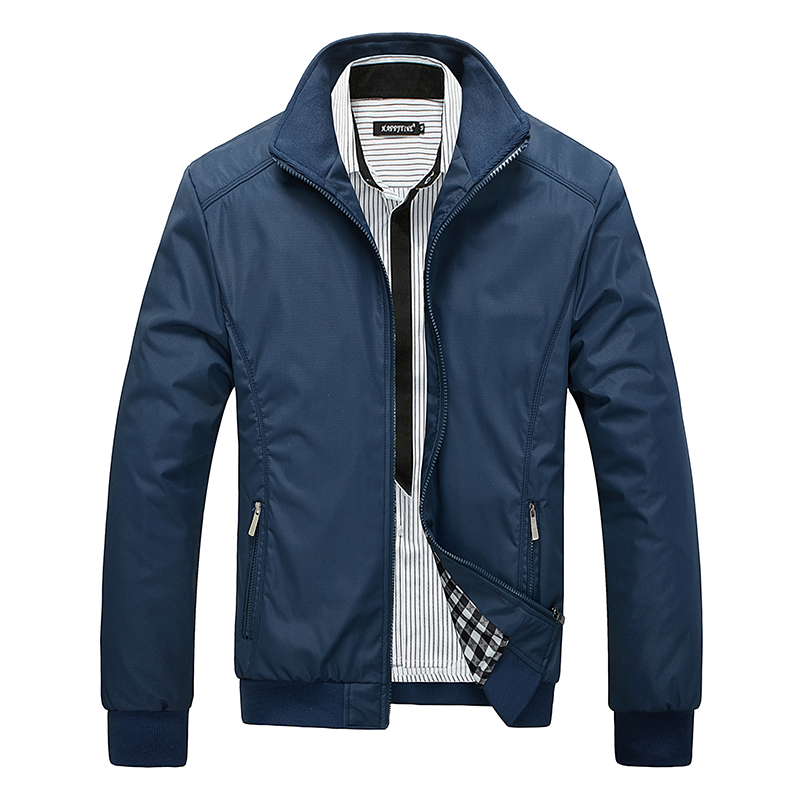 M-5XL Spring Summer Jackets Men Casual Thin Windbreaker College Stand Collar Black Windcheater Homme Varsity Jacket Big Size W64