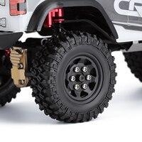 INJORA 4PCS 49*18mm Beadlock Micro Crawler Wheel Rims Tires Set for 1/24 RC Crawler Car Axial SCX24 90081 5