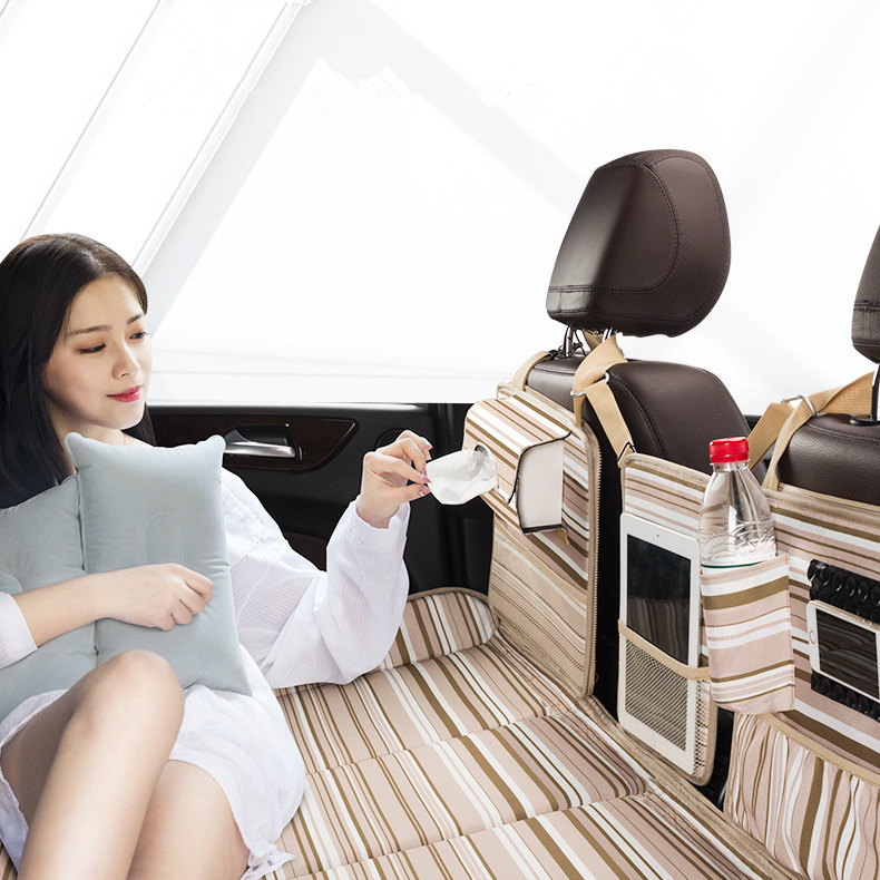 2019 New Arrival Car Travel Bed Non-inflatable Mattress Vehicle SUV Folding Portable Self-driving Recreational Supplies Storage