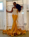 Gold Mermaid Long Pr...