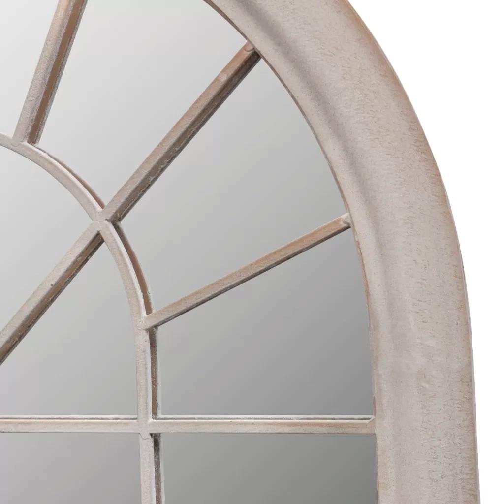 VidaXL Rustico Arco Giardino Specchio 116x60cm Per Uso Sia Interno che Esterno di Ferro E Materiale di Vetro Resistente giardino Specchio Cancello V3 - 3