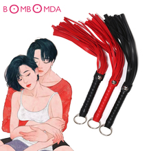 Sex Whip Sex Toys PU Leather Fetish SM Bondage Flogger BDSM Slave Bondage Sex Toys For Woman Couples Spanking Butt Adult Games pu leather sm bdsm bondage restraints harness fetish erotic chastity belt underpants adult games sex toys for couples