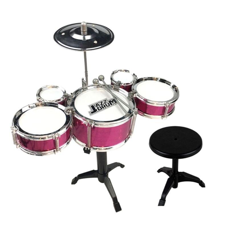 Детский джазовый барабан, набор музыкальных образовательных инструментов, мини-группа, игрушка с палочками