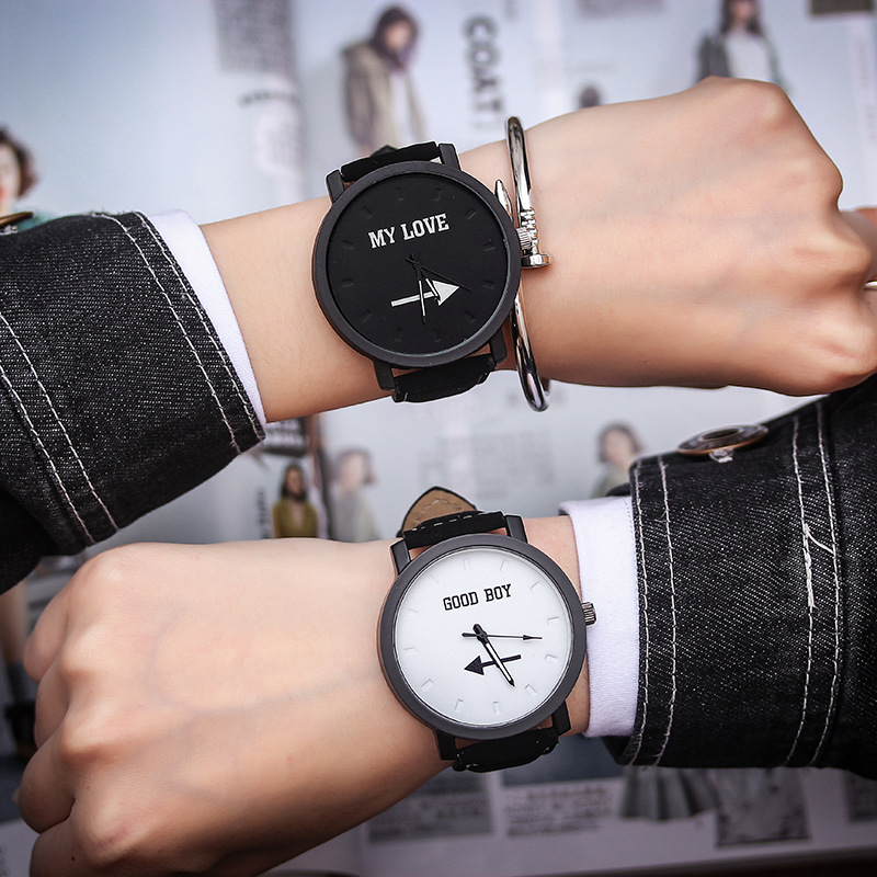 I Love You Watch Couple Watch Men Watch Women Leather Fashion Pair Watches Boy Girl Clock Reloj Hombre Reloj Mujer Montre