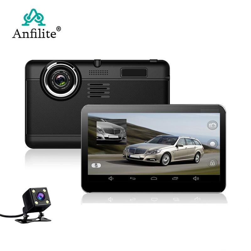 Anfilite 7 inç kapasitif Android araba GPS Navigator dört çekirdekli 16GB araba dvr