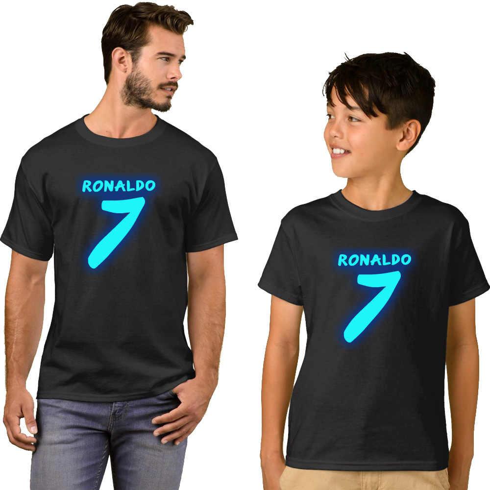 LYTLM เด็กเสื้อผ้าเด็ก Ronaldo เสื้อเด็กสำหรับสาวการจับคู่ชุดครอบครัววัยรุ่น T เสื้อกีฬาเสื้อยืดผู้หญิง