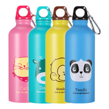 New Hot Kids Gift Portable Water Bottle Cute Animal Pattern Cup Outdoor Sport Hiking Drinking with Hooker 500ml