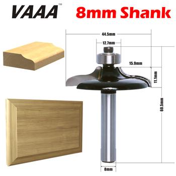 VAAA 1PC 8mm Shank Ogee styl europejski drzwi przednie krawędzi frez przycinanie frez do drewna do obróbki drewna frez elektronarzędzia tanie i dobre opinie Wypukłe młyn 60 5mm 80061 44 5mm Węglika