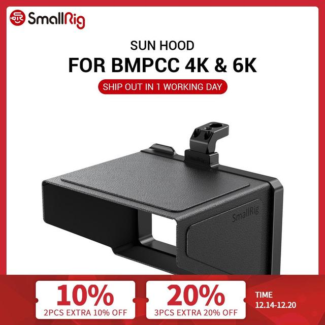 SmallRig BMPCC 4K Camera Sun Hood for BMPCC 4K & 6K Blackmagic Design Pocket Cinema Camera 4K & 6K VH2299
