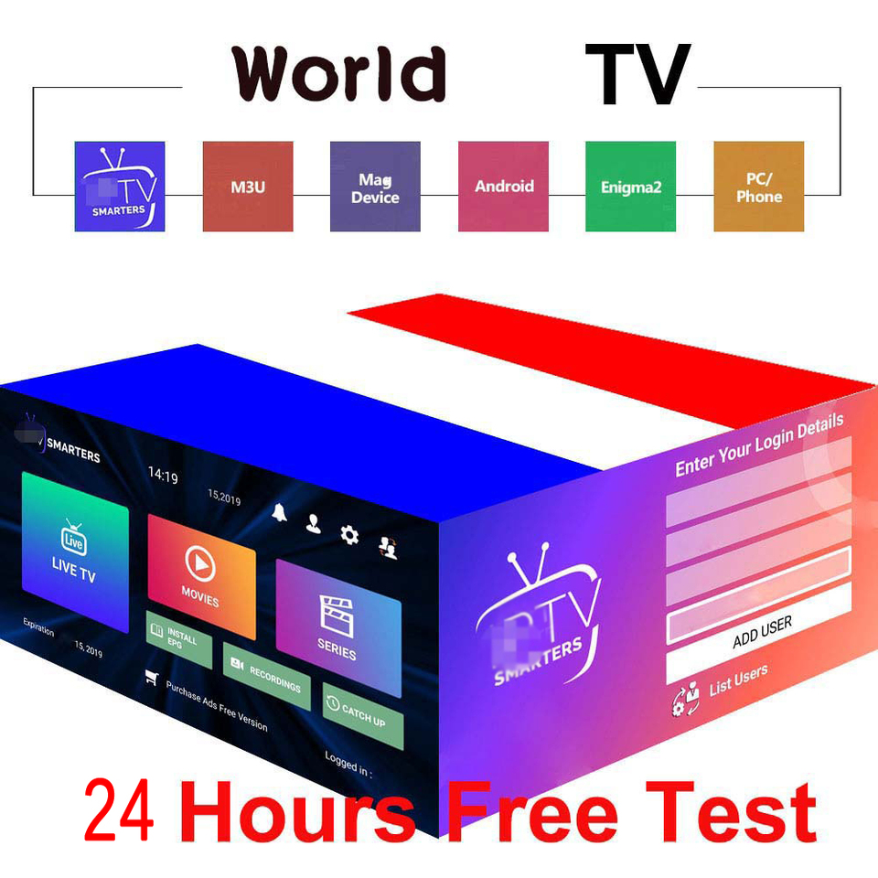 World tv support tv box android M3U list USA Europe french Spain España IP  Smart TV no App included free test| | - AliExpress
