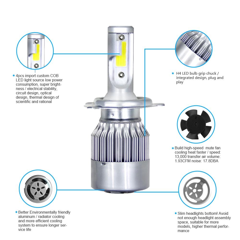 H18f364335e6f4ba1925411555fa6a730U Muxall 8000LM/Pair LED Headlight Bulbs 72W Auto Lights Car H7 LED H1 H3 H27 H11 HB3 HB4 H4 H13 9004 9007 Car Styling Lamp