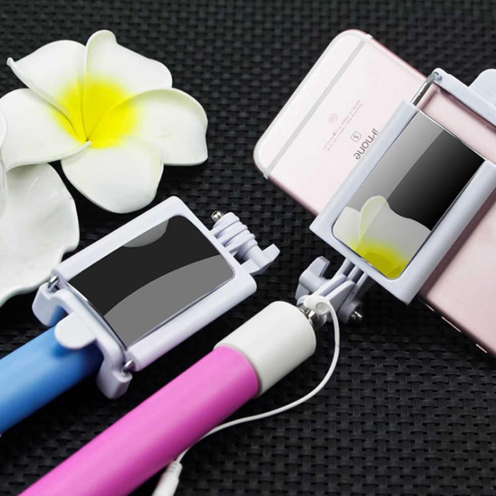 ポータブルハンドヘルド拡張可能な一脚 selfie スティックバック hd iphone 5 と 6 プラスサムスン華為ソニー lg xiaomi oppo。