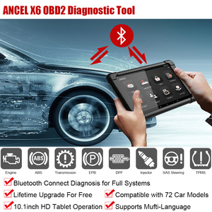 Image 2 - ANCEL herramienta de diagnóstico de coche X6 OBD2, escáner con Bluetooth, aceite ABS EPB DPF, inyector de acelerador, Airbag, reinicio de sistemas completos, escáner OBD2
