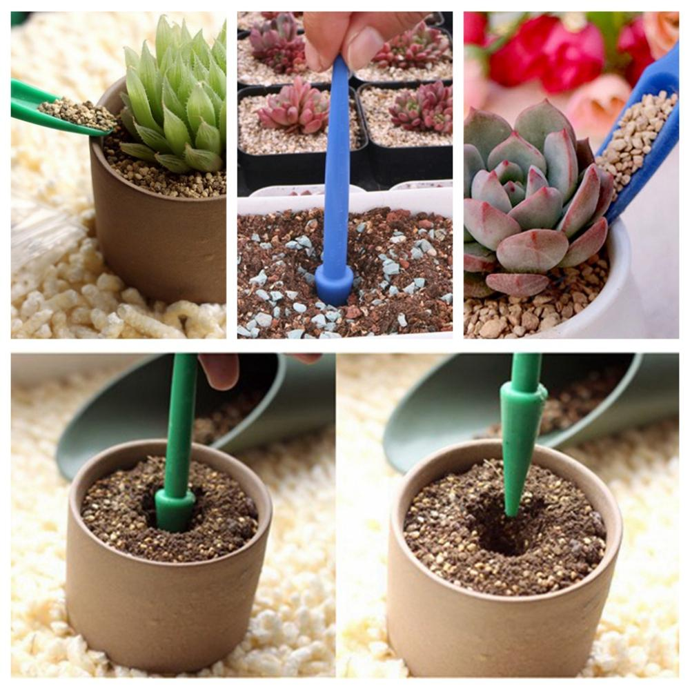 Protable Succulents Transplant Seedlings Planted Tool Garden Bonsai Fertilizer Drilling Device  Planting Seedling Transplanter