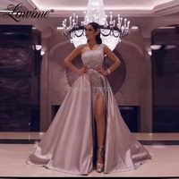 Glitter Zwei Stücke Prom Kleider Eine Schulter Party Kleid Mit Abnehmbaren Rock Arabisch Dubai Abendkleider 2020 Robe De Soiree
