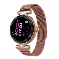 H12 Female Crystal Smart Bracelet Waterproof Disc Color Screen Watch Call Reminder Heart Rate Movement S216