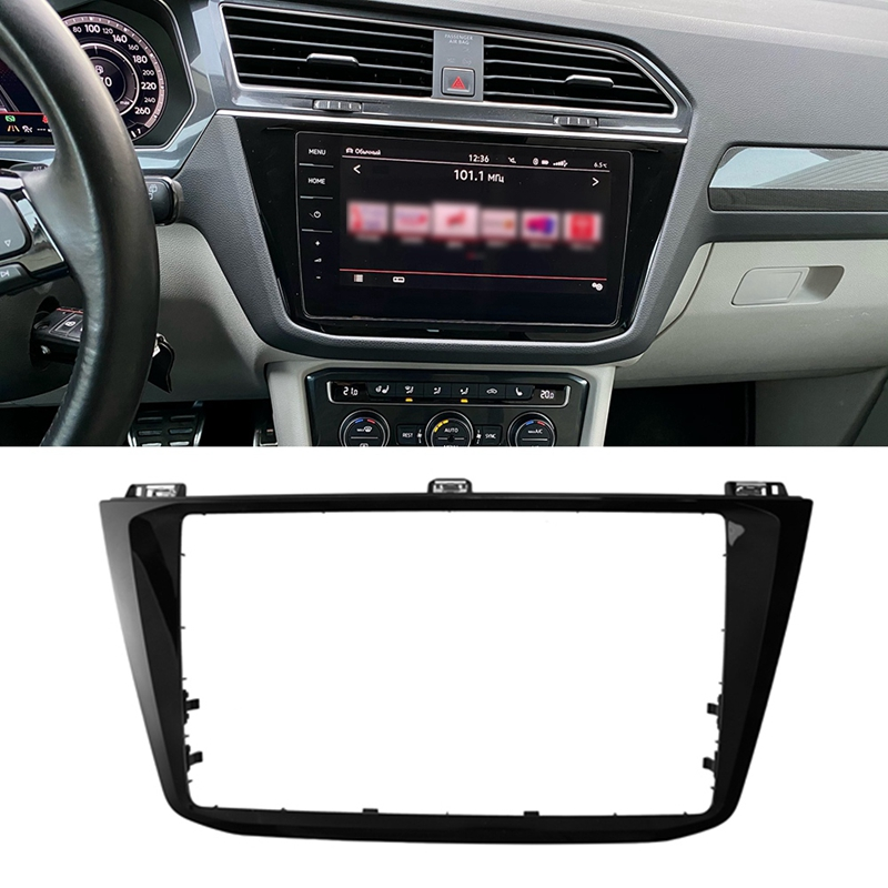 8 Inch Car CD Panel Trim MIB Radio Media Unit Plates Decorative Frame For Tiguan MK2 2017-2020