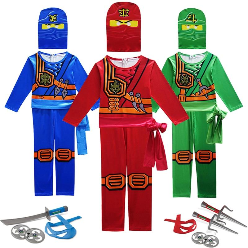 Ninja Costume Kids Anime Cosplay Kids Costume Party Carnival Halloween Costume For Kids Fantasy Ninja Cosplay Superhero Jumpsuit