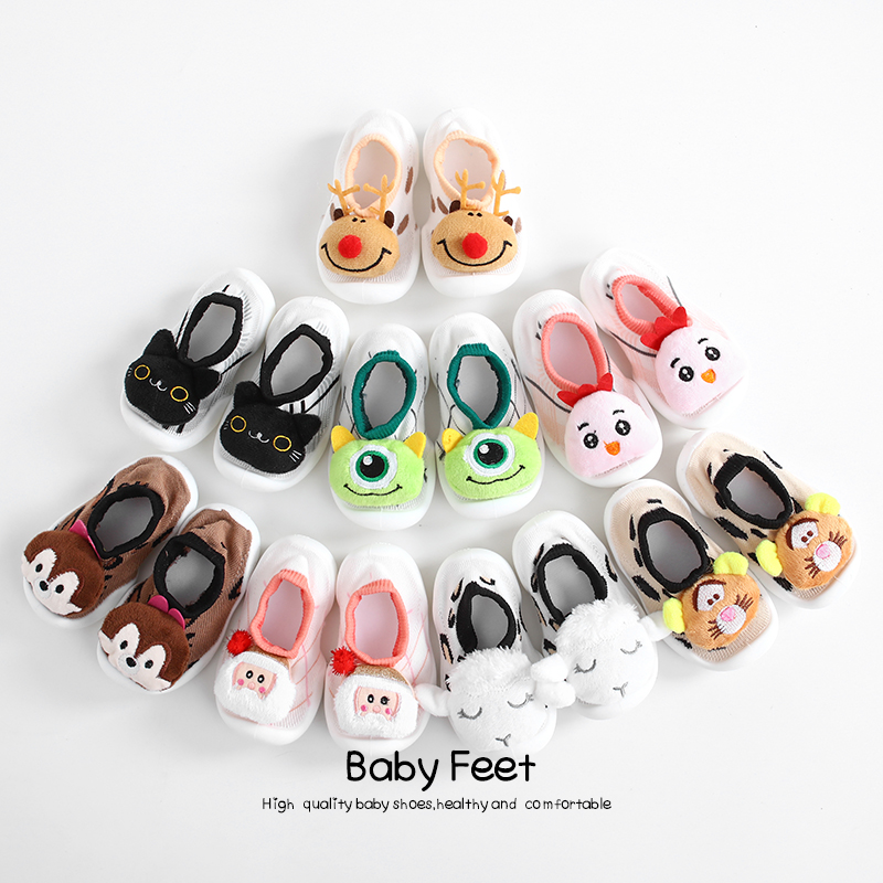 Baby Sock Shoes Cute Animal Style Baby Rubber Floor Sock Shoes