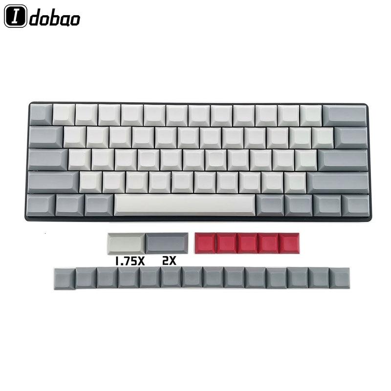 IDOBAO Blank 61 64 68 ANSI Dsa Keycaps  Profile Thick PBT Keycap For Cherry MX Mechanical Keyboard GH60 XD64 GK64 Tada68