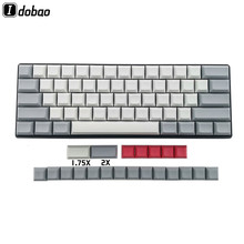 IDOBAO Blank 61 64 68 ANSI dsa keycaps Profile Thick PBT Keycap For Cherry MX Mechanical Keyboard GH60 XD64 GK64 Tada68(China)