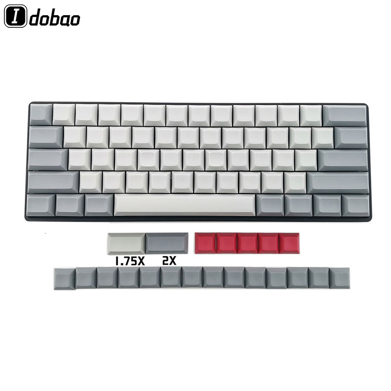 IDOBAO Blank 61 64 <font><b>68</b></font> ANSI dsa <font><b>keycaps</b></font> Profile Thick PBT Keycap For Cherry MX Mechanical Keyboard GH60 XD64 GK64 Tada68 image