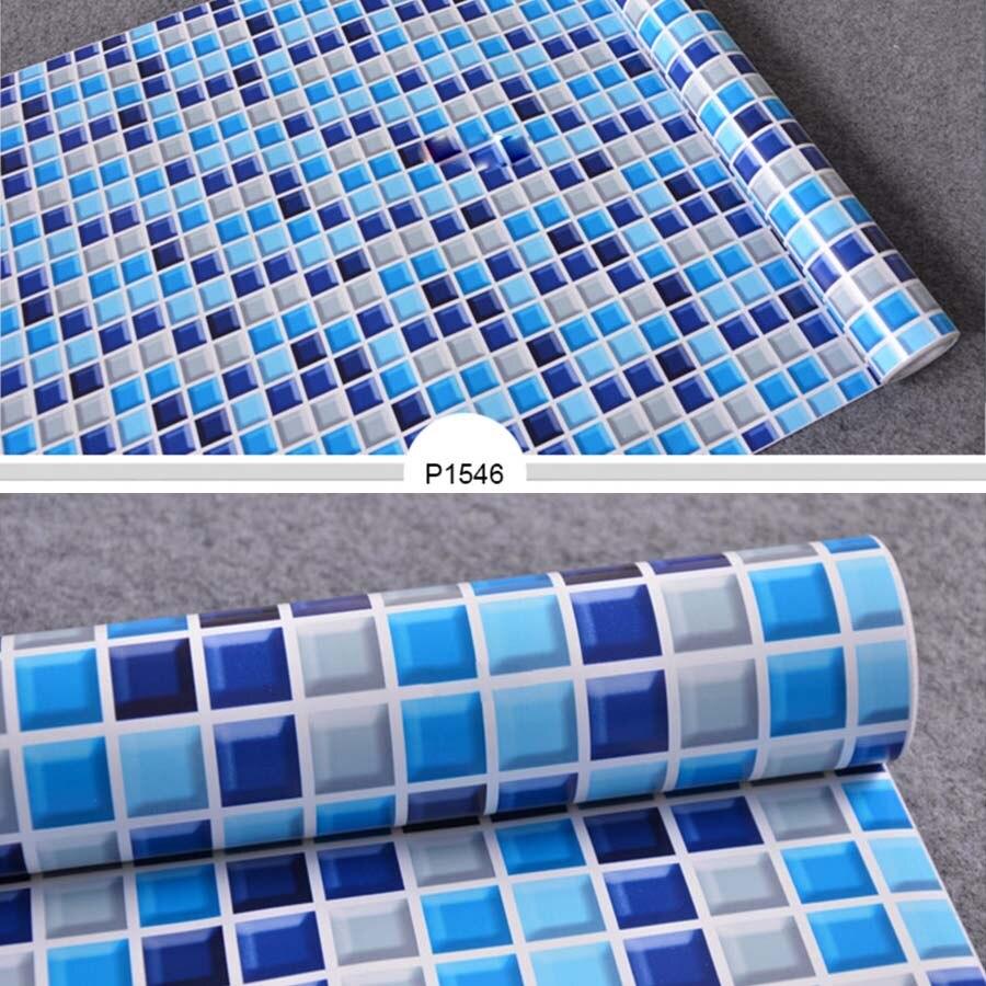 5m 10m New Bathroom Tiles Waterproof Wall Sticker Vinyl Pvc Mosaic Self Adhesive