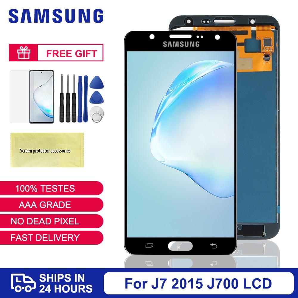 J7 Display For Samsung Galaxy J7 2015 J700 LCD Display Touch Screen Digitizer Assembly For Samsung J700F J700M J700H Screen