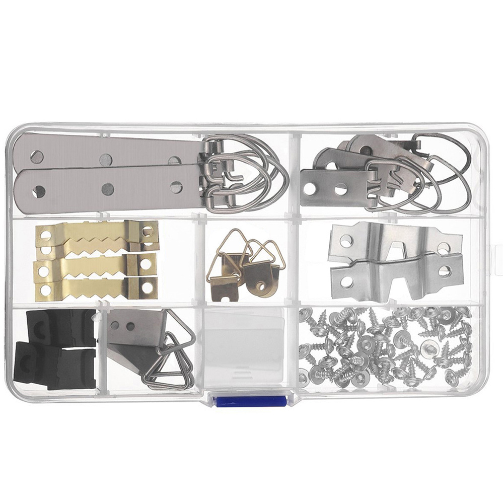 77pcs/set Painting Kit Office Home Photo Frame Hanging Screws Hook Assorted Picture