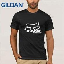 fox Logo Racinger Black Mens T-Shirt Tee Clothes Popular Crewneck 100% Cotton Tees Funny Tops T Shirt