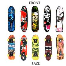 Cool Skull FingerBoard Mini Skateboard chico juguete fiesta regalo(China)