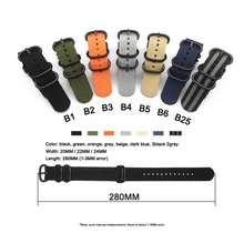 Ремешок нейлоновый для наручных часов 22 мм garmin fenix 5 plus