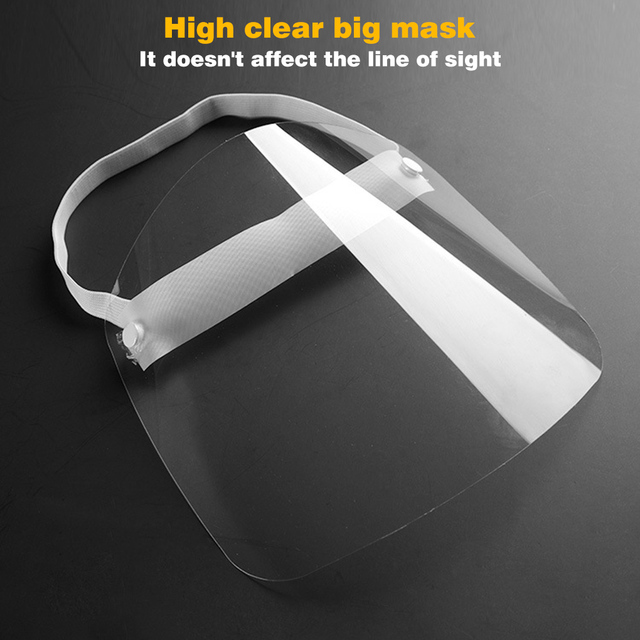 Universal Head Mounted Clear Face Protection Shield Saliva Splashing Proof Transparent Face Screen 4