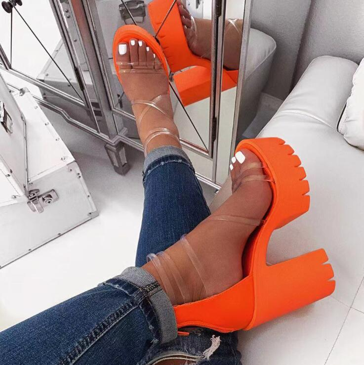 H18f4a8d716984b7aa7b5c80e36427c7ds Autumn new women's high-heeled cross PVC straps outdoor travel sandals rubber bottom non-slip slippers increased sandals