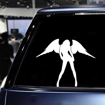 10x14CM Funny Car Sticker Angel Devil Beauty Women Auto Sticker And Decal Auto Door External Decoration For Car Accessories image