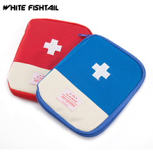 WHITE FISHTAIL Portable First Aid Medical Kit Medicine Divider Storage Mini Organizer Camping Emergency Survival Bag Pill Case large medicine bag travel outdoors camping pill storage bag first aid emergency case survival kit