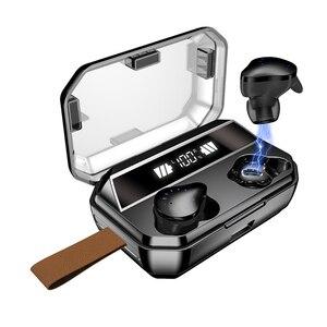 Bluetooth наушники, 6 часов музыки, Bluetooth 5,0 TWS ture беспроводные наушники 8000 мАч Внешний аккумулятор IPX7 водонепроницаемые беспроводные наушники