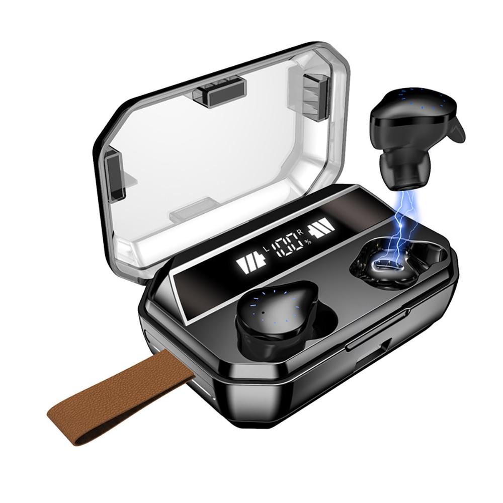 Bluetooth earphone 6 hours music  5.0 TWS ture wireless earbuds 8000 mAh power bank IPX7 waterproof Earphone